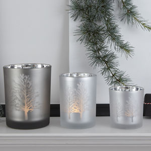 Tree Silhouette Mirror Candle Holders - votives & tea light holders