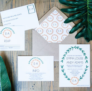 Garland Wedding Stationery