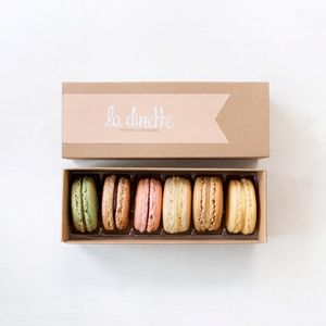 Gift Box Six French Macarons - food gifts