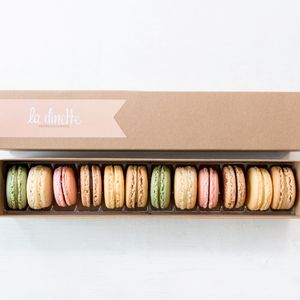 Gift Box Of 12 French Macarons - macarons and meringues