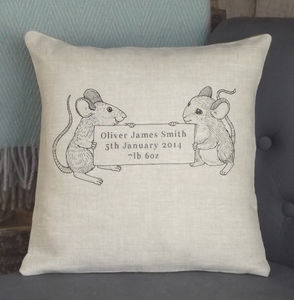 ' Child's Message ' Personalised Linen Cushion - soft furnishings & accessories