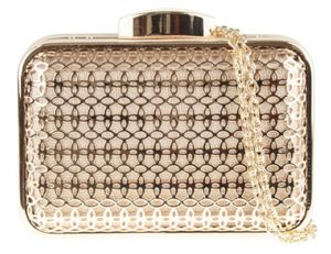 Penny Rose Gold Clutch Bag - bags & purses
