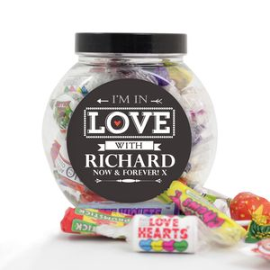 I'm In Love With Valentines Anniversary Sweets Jar - chocolates & confectionery