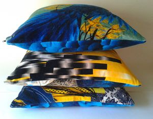 Stunning Parrots Cushion In Lush Velvet + Waterproof
