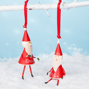 Two Personalised Little Red Santas