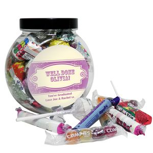 Vintage Purple Girls Sweet Jar - chocolates & confectionery