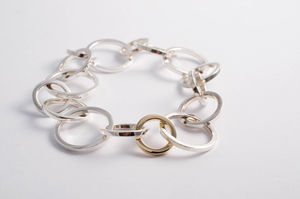 Sterling Silver And 9ct Gold Unity Bracelet - bracelets & bangles