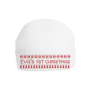 Personalised First Christmas Nordic Hat - babies' hats