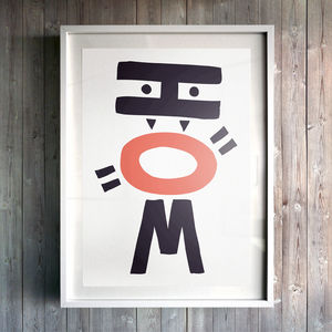 How Robot Fine Art Giclée Print - posters & prints for children