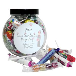 Our Fantastic Page Boy Wedding Sweet Jar