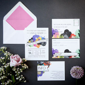 Sweet Bloom Wedding Stationery - invitations