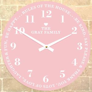 Personalised Family Clock