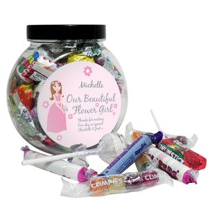 Our Flower Girl Wedding Sweet Jar