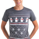 Mens Snowman Christmas T Shirt
