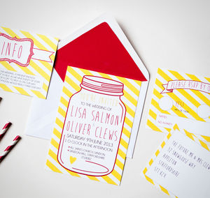 Penny Candy Wedding Stationery - invitations