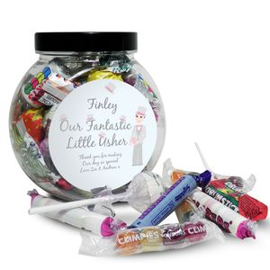 Our Fantastic Little Usher Wedding Sweet Jar