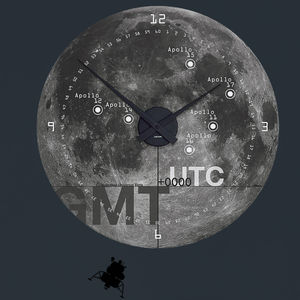 Moon Landings Wall Clock - living room