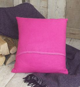 ' Fuchsia ' Pink Irish Linen Cushion