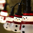 10 LED Battery Snowman Fairy String Lights