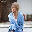 Knitted Cashmere Wrap - Bluebell
