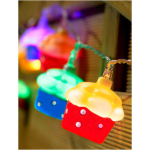 10 LED Battery Cupcake Fairy String Lights