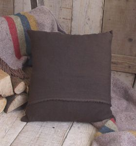' Chocolate Brown ' Luxury Irish Linen Cushion - plain cushions