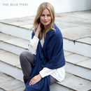 Knitted Cashmere Wrap - Ink Blue Marl