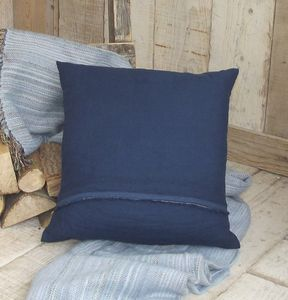 ' Indigo ' Soft Luxury Irish Linen Cushion - plain cushions