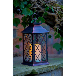 Lattice Battery Candle Lantern - lighting