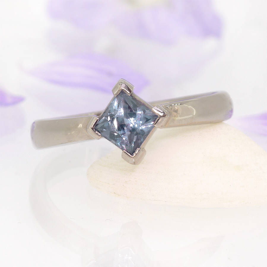 princess cut sapphire ring 18ct gold choice of stones by