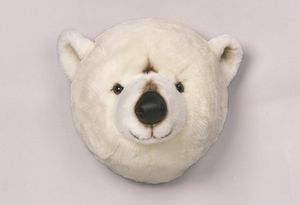 Decorative Animal Head Polar Bear - children's room