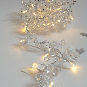 Clear Crystal Fairy Light Garland