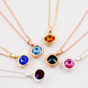 Gemstone Birthstone Necklace - gifts for her