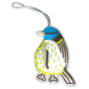 Blue Tit Beaded Decoration