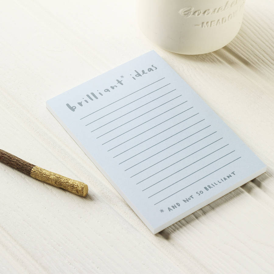 Brilliant Ideas Notepad By Old English Company ...