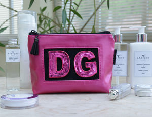 Personalised Pink Cosmetic Pouch - home