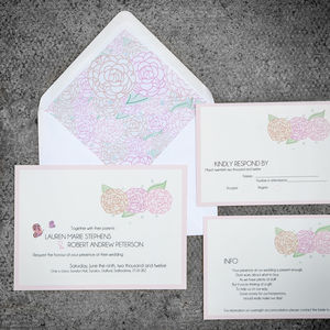 Love Is A Flutter Wedding Stationery