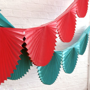 Paper Fan Garland Bunting - garlands & bunting