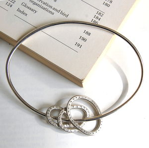 Oval Bangle With Three Hoops