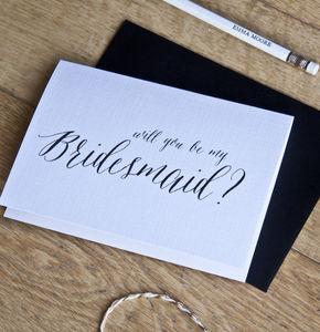 Bridesmaid Proposal Card - wedding, engagement & anniversary cards