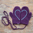 Plum with Grey Heart