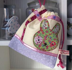 Rabbit Drawstring Pouch - bags, purses & wallets