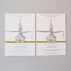 Personalised Christening Invitations - christening cards