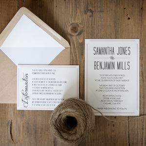 Jones Wedding Stationery - invitations