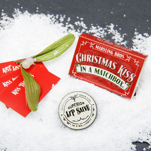 Mistletoe Christmas Gift In A Matchbox - stocking fillers