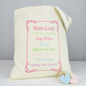 Personalised 'Mum Loves' Shopping Bag - bags & purses