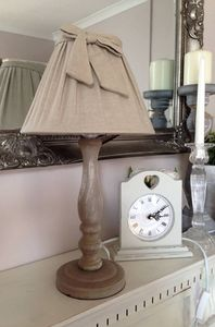 Cream Bow Lamp - table & floor lamps