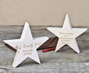Personalised 'You Are A Star' Handmade Keepsake