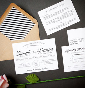 Script Wedding Stationery - parties