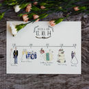 Bespoke Illustrated Wedding Schedule